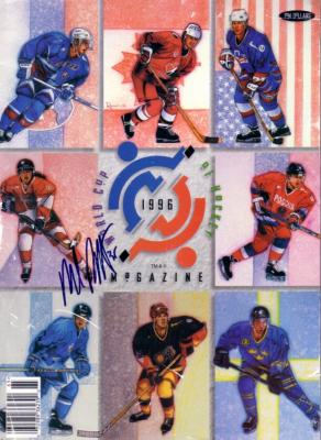 Mike Richter (Rangers) autographed 1996 World Cup of Hockey program