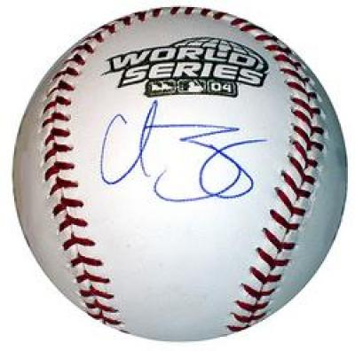 Curt Schilling autographed 2004 World Series baseball