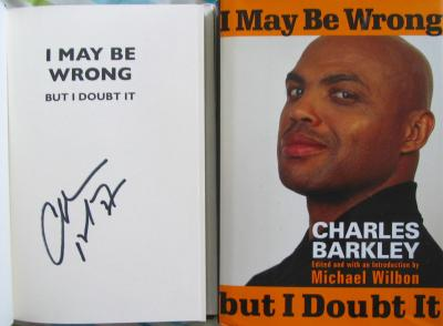 Charles Barkley autographed I May Be Wrong But I Doubt It book