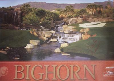 Paula Creamer autographed Bighorn LPGA Samsung World Championship poster
