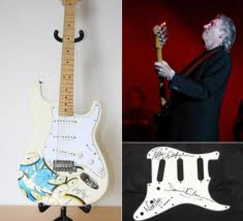 Memorabilia; Pink Floyd Guitar;  Designed by the man behind the artistry of many