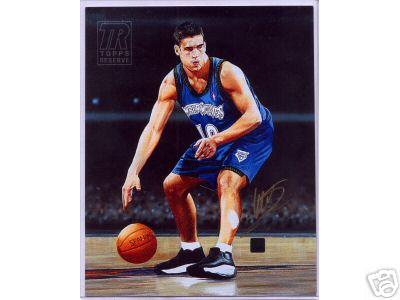 Wally Szczerbiak certified autograph Minnesota Timberwolves Topps 8x10 canvas artwork