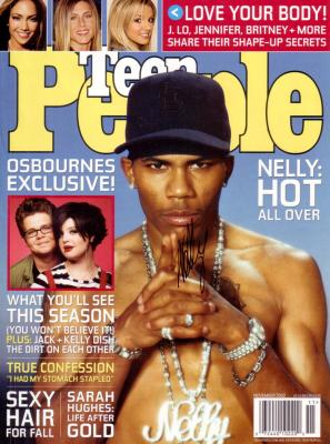 Nelly autographed Teen People magazine cover