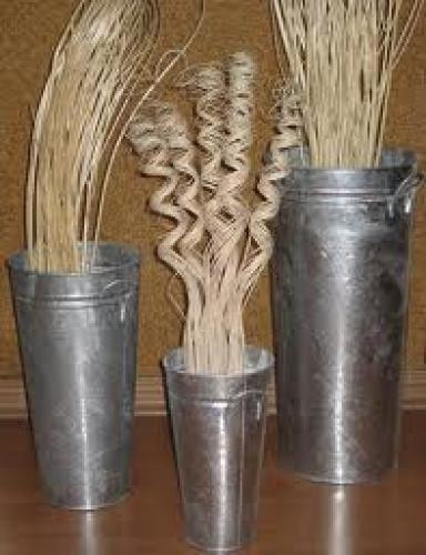 Metallic flower vases &amp; decorative pots