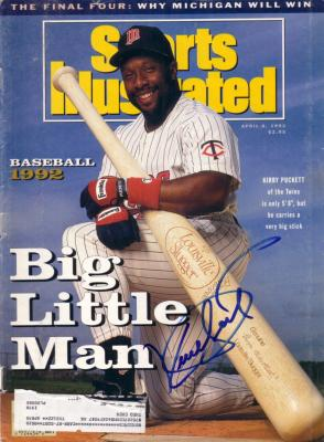 Kirby Puckett autographed Minnesota Twins 1992 Sports Illustrated