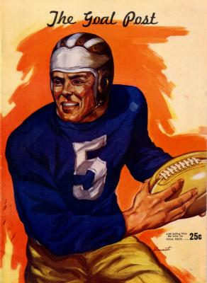 1946 UCLA vs Nebraska football program PRISTINE (Tom Fears)