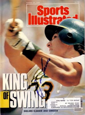 Jose Canseco autographed Oakland A's 1990 Sports Illustrated