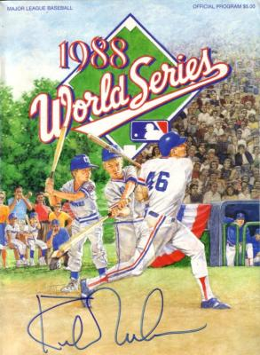 Kirk Gibson autographed 1988 World Series program