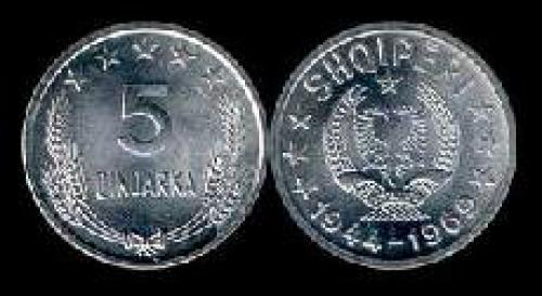 5 qindarka 1969 (km 44); 25 yrs. Liberation