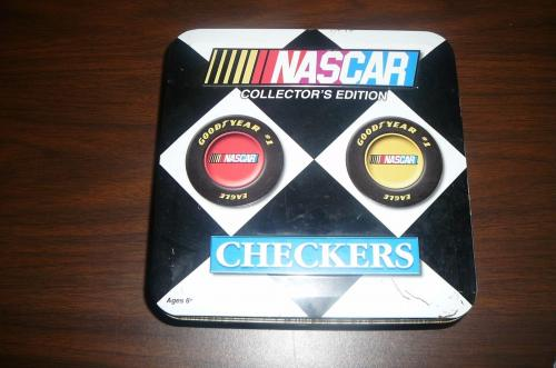 NASCAR COLLECTOR'S Edition COMPLETE Checkers Board Game with Metal Box
