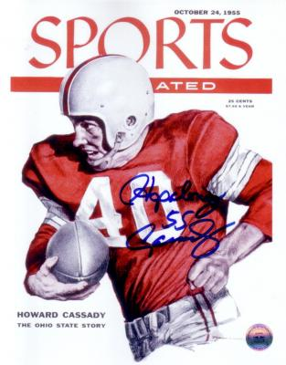 Howard (Hopalong) Cassady autographed Sports Illustrated cover 8x10 photo