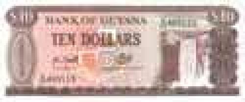 10 Dollars; Guyana banknotes