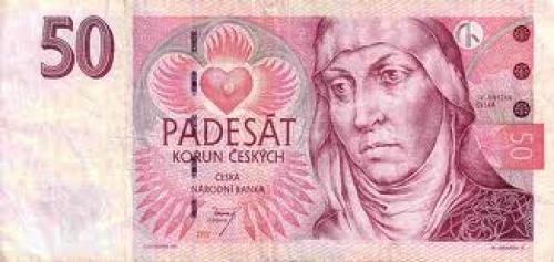 Banknotes; Czech Republic 50 Korun Banknote ; 1997 Issue