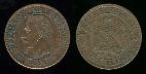 2 centimes; Year: 1861-1862; (km 796)