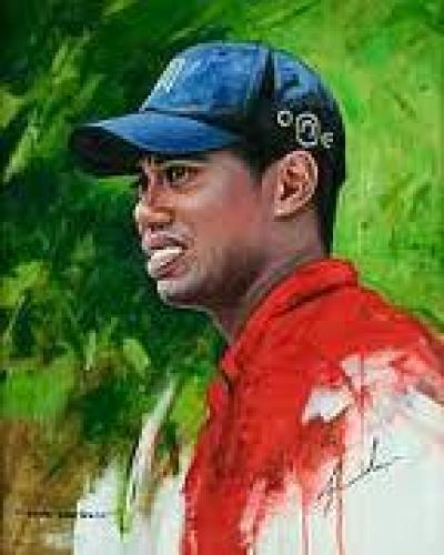 Tiger Wood Painting
