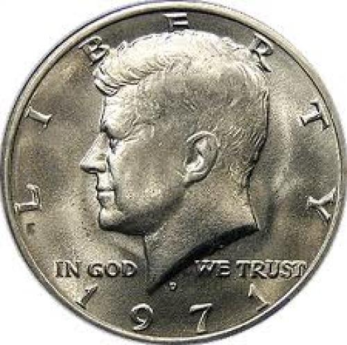 Coins;  US Coins. Half Dollars. 1971 D Kennedy Half Dollar