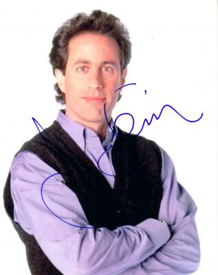 Jerry Seinfeld autographed 8x10 portrait photo