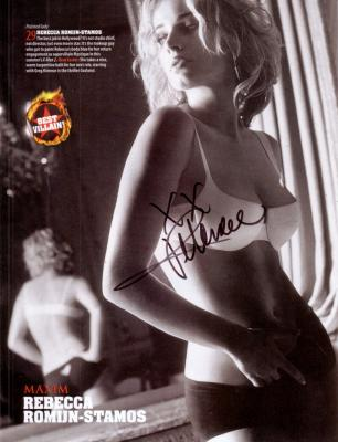 Rebecca Romijn autographed Maxim magazine sexy full page photo