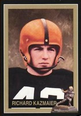 Dick Kazmaier Princeton Heisman Trophy winner card