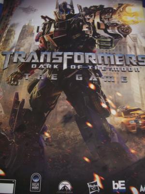 Transformers Dark of the Moon Game 24x28 promo poster