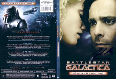 James Callis autographed Battlestar Galactica DVD cover insert