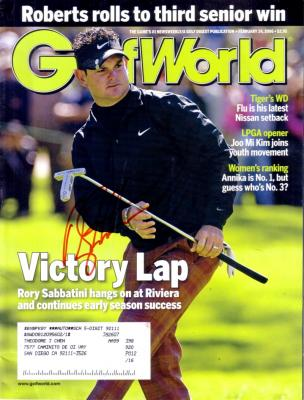 Rory Sabbatini autographed 2006 Golf World magazine