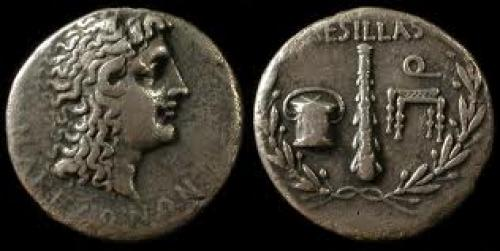 Coins; Macedon, Under Roman Rule. Aesillas. Circa 70-60 BC. Silver tetradrachm.