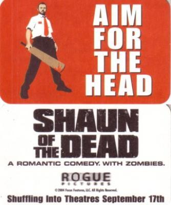 Shaun of the Dead movie promo card (Simon Pegg)