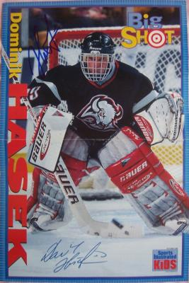 Dominik Hasek autographed Buffalo Sabres SI for Kids mini poster