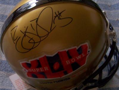 Reggie Bush autographed Super Bowl 44 mini helmet