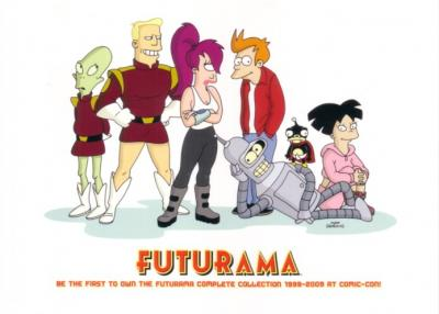Futurama 2009 Comic-Con Fox 5x7 promo card