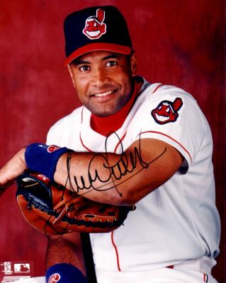 Sandy Alomar Jr. autographed 8x10 Cleveland Indians photo