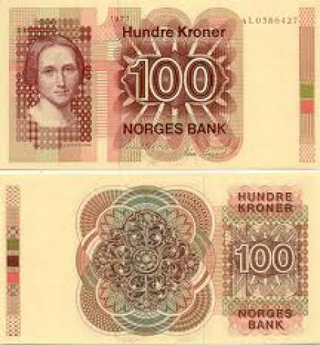 Banknotes; Norway 100 Kroner 1977
