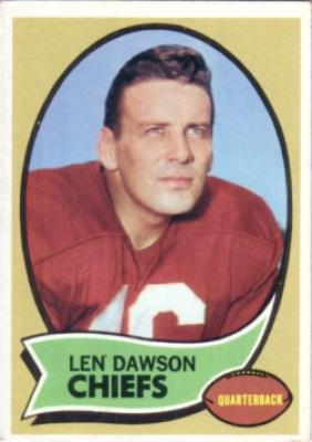 Len Dawson Chiefs 1970 Topps card #1 Ex