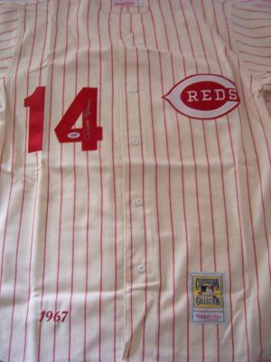 Pete Rose autographed Cincinnati Reds 1967 authentic Mitchell & Ness throwback jersey