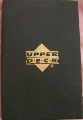 Upper Deck green leatherette presentation album for 6 cards