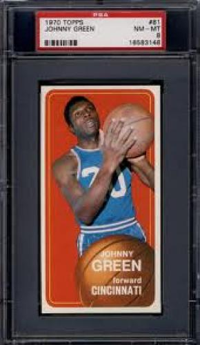 Basketball Card; 1970-71 Topps #81 Johnny Green Royals