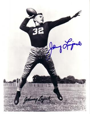 Johnny Lujack autographed 8x10 Notre Dame photo
