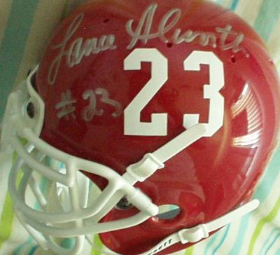 Lance Alworth autographed Arkansas throwback mini helmet