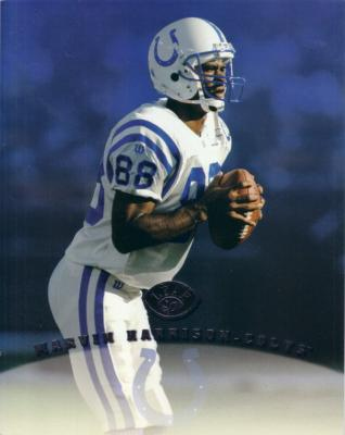 Marvin Harrison Colts 1997 Leaf 8x10 photo card
