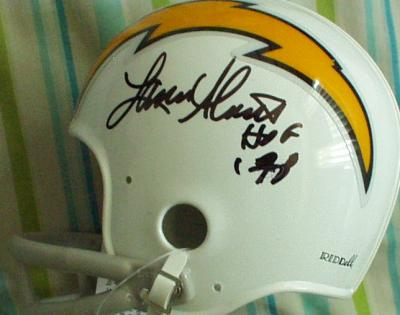 Lance Alworth autographed San Diego Chargers throwback mini helmet