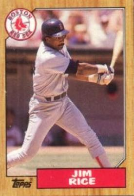 Jim Rice Boston Red Sox 1987 Topps mini wax box card