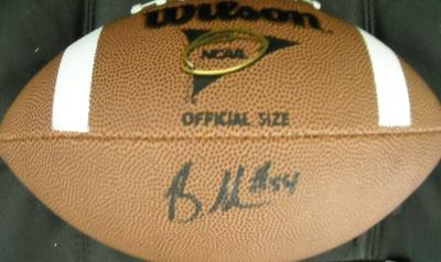 Brandon Graham (Michigan) autographed Wilson NCAA football