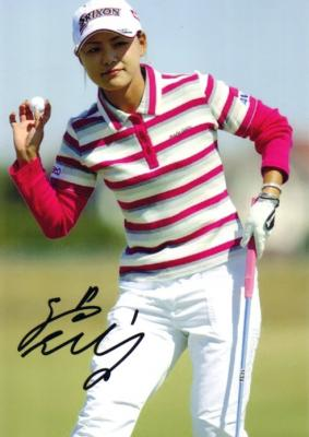 Sakura Yokomine autographed 5x7 golf photo