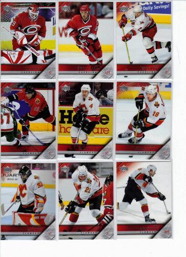 1 LOT OF 10 VARIOUS PLAYERS 2005-2006 U.D. HOCKEY CARDS