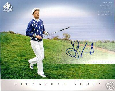 Jesper Parnevik certified autograph 2004 SP Signature 8x10 photo card