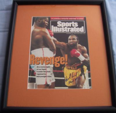 Evander Holyfield autographed 1993 Sports Illustrated cover framed
