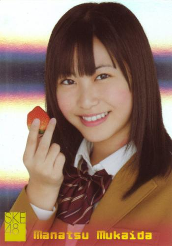 SKE48 JAPANESE IDOL TRADING CARD MANATSU MUKAIDA #S16 SP HOLO