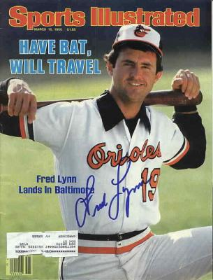 Fred Lynn autographed Baltimore Orioles 1985 Sports Illustrated