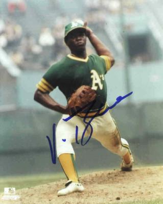 Vida Blue autographed 8x10 Oakland A's photo